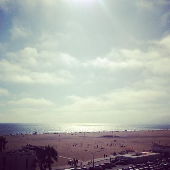 The view of Santa Monica beach