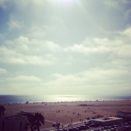 The view of Santa Monica beach