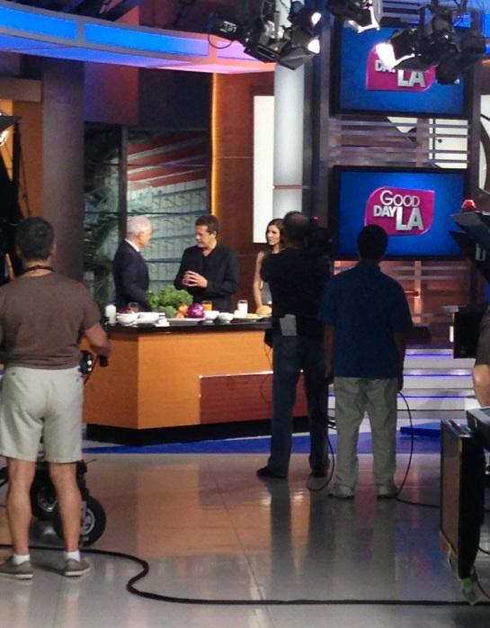 On the set of Good Morning LA for Dr. Junger's segment