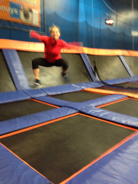 Spent my Saturday at a trampoline park - that's right.