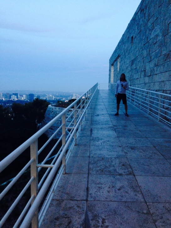 Albert in his happiest of places: The Getty at dusk