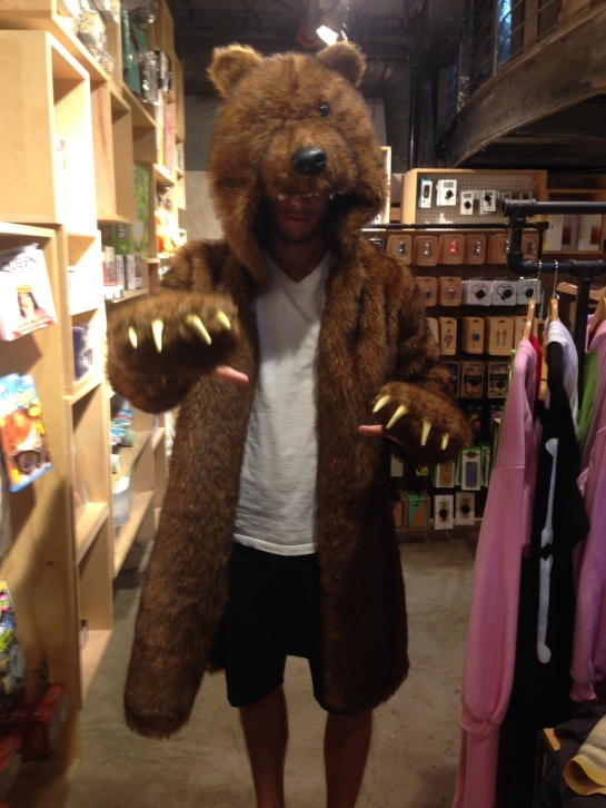 I also did some shopping with this bear.