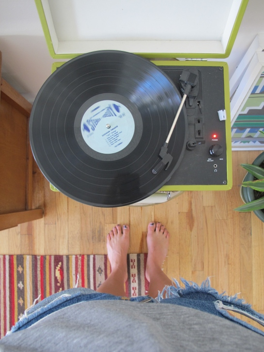 Set up our record player and listened to so Hawaiian Paradise.