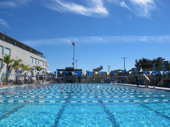 Went to the Santa Monica College pool to beat the heat.