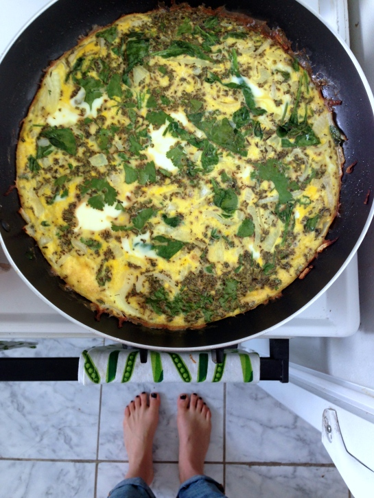 Made a delicious frittata from our Clean Eats book.